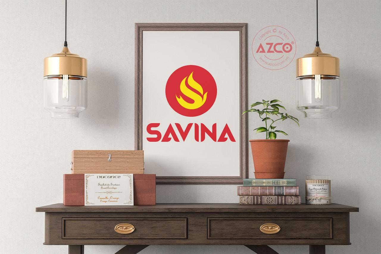 Thiết Kế Logo Thương Hiệu SAVINA Tại AZCO