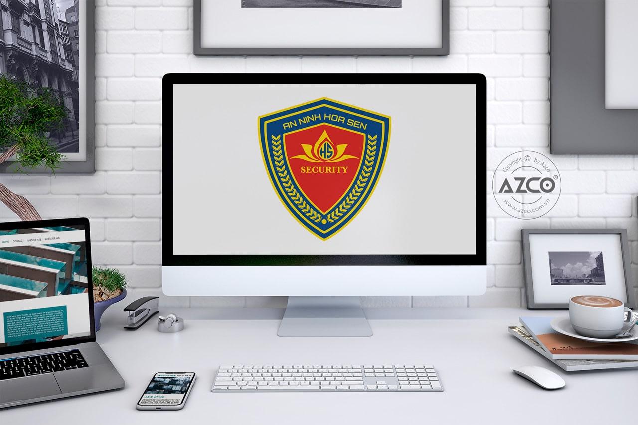 Thiết Kế Logo Thương Hiệu AN NINH HOA SEN Tại AZCO