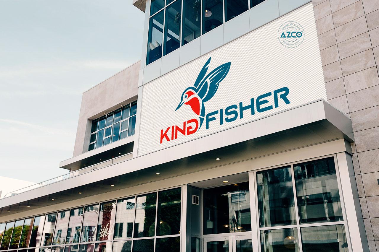 Thiết Kế Logo Thương Hiệu KING FISHER Tại AZCO