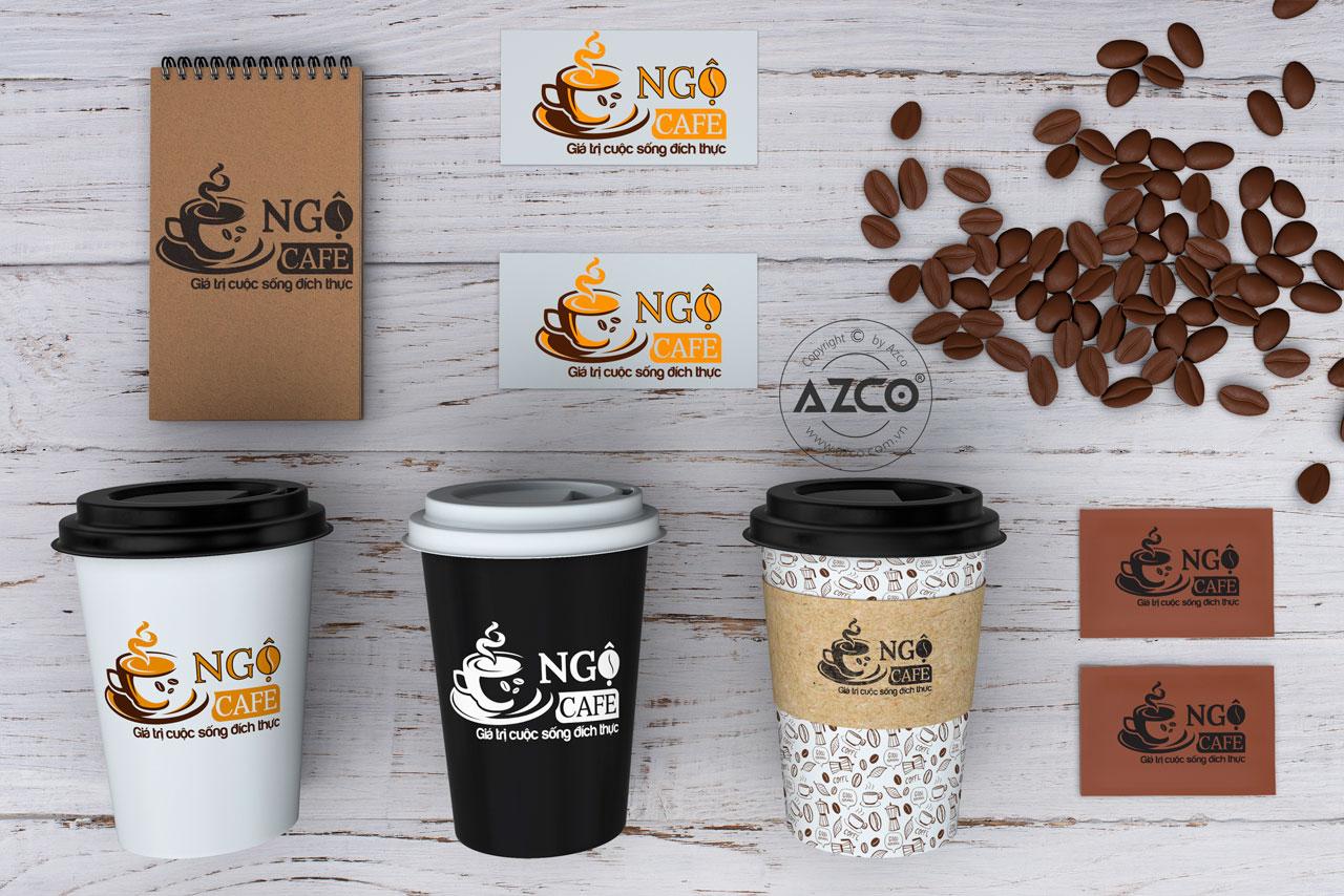 Thiết Kế Logo Thương Hiệu NGỘ CAFE Tại AZCO