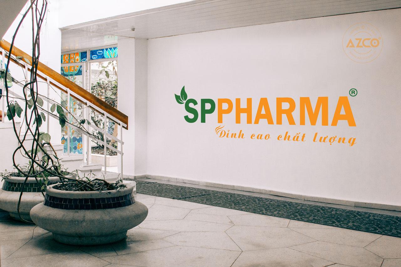 Thiết kế logo thương hiệu SP PHARMA | AZCO Branding