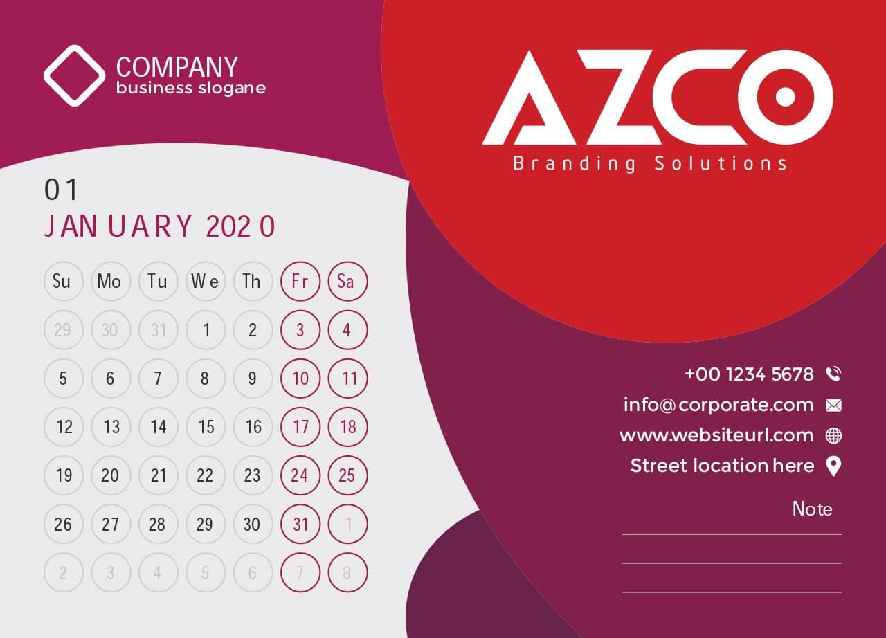 Thiết kế lịch tết 2020