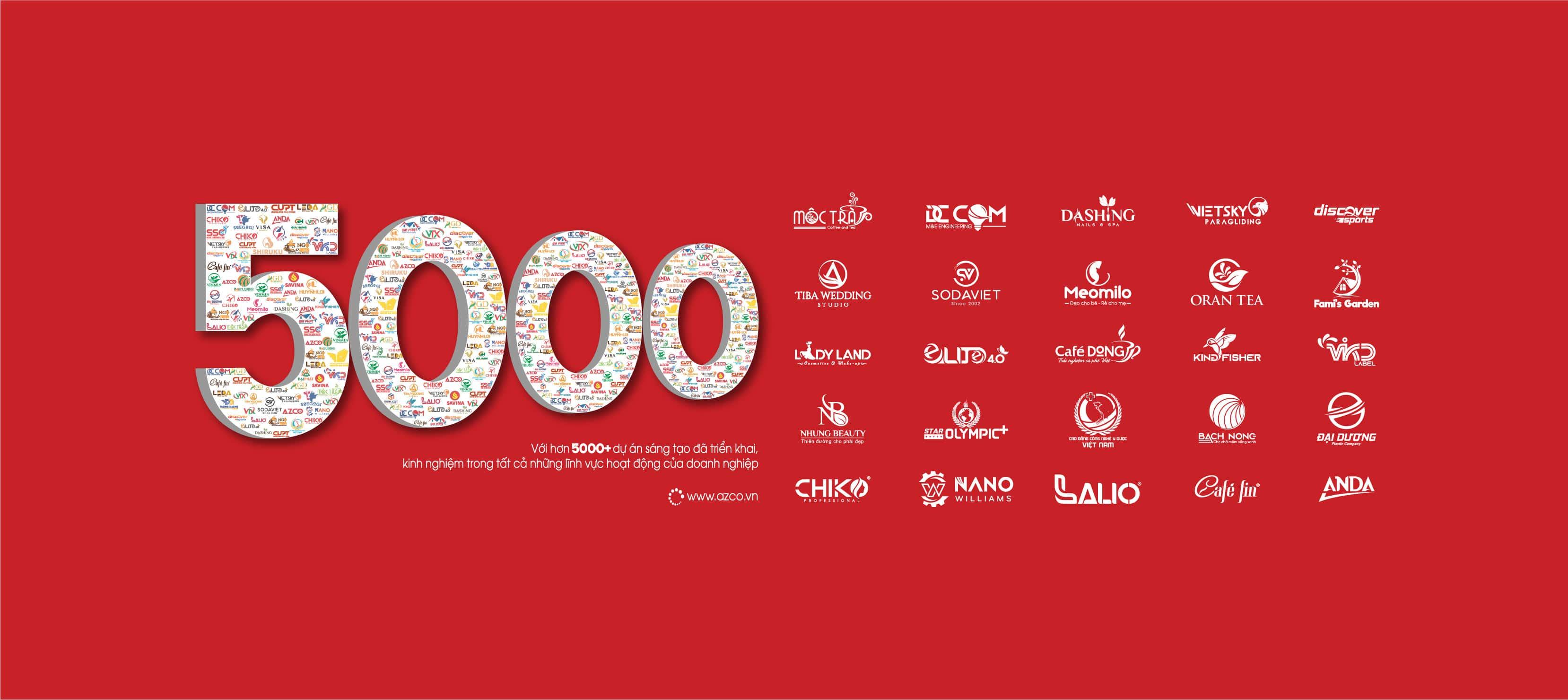 Hơn 5000+ dự án thiết kế | Banner AZCO