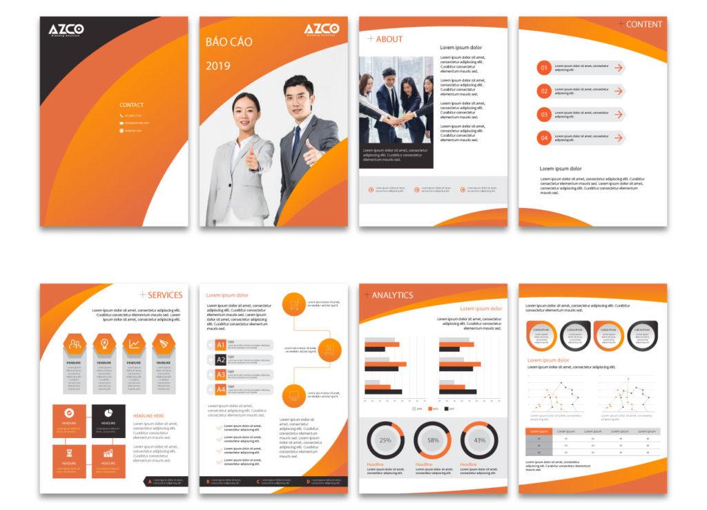 Dịch vụ thiết kế báo cáo thường niên | AZCO Branding