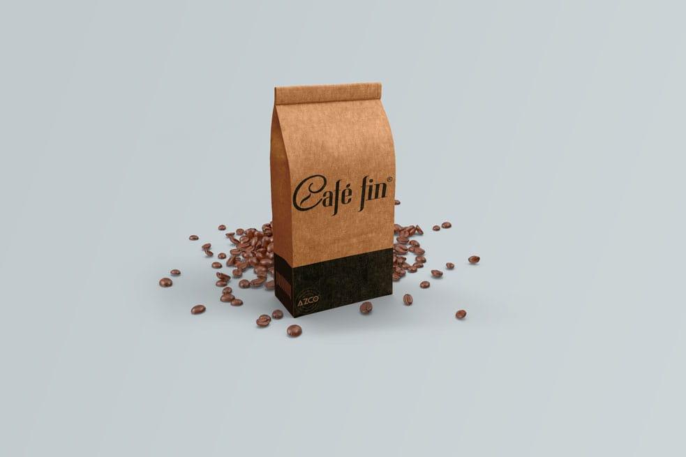 Thiết kế CAFÉ FIN   AZCO Branding