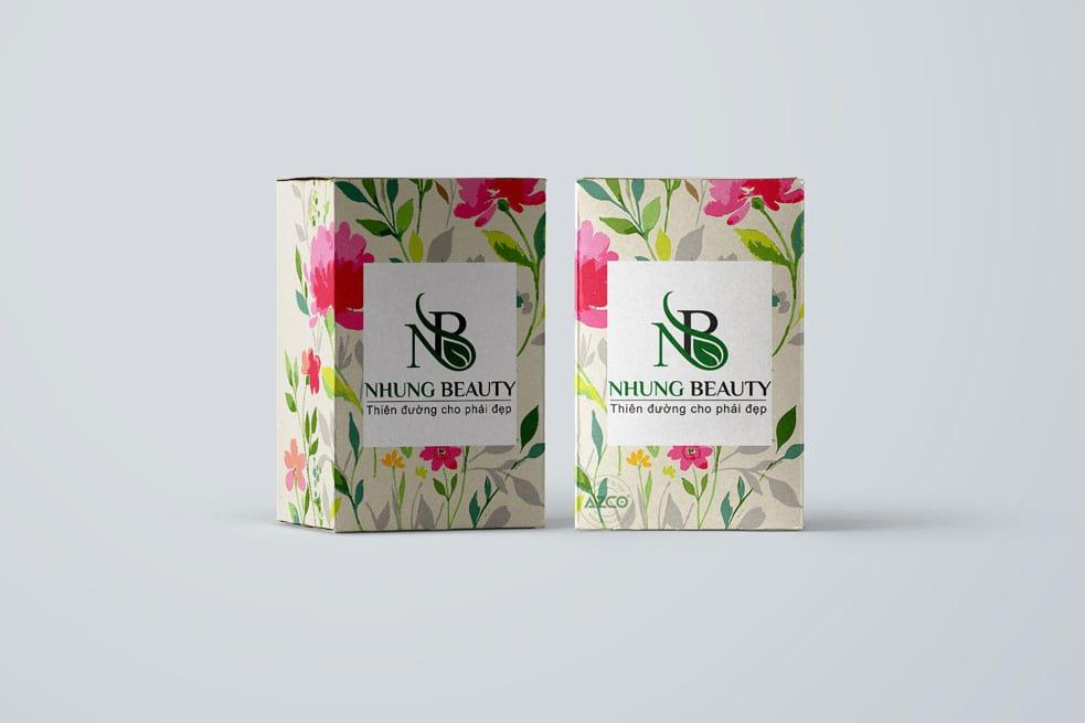 Thiết kế NHUNG BEAUTY   AZCO Branding