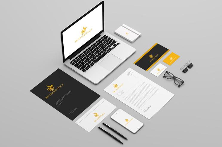 Thiết kế nhận diện thương hiệu 88 GRAND PLACE | AZCO Branding