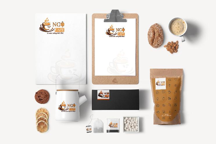 Thiết kế nhận diện thương hiệu NGỘ CAFE | AZCO Branding
