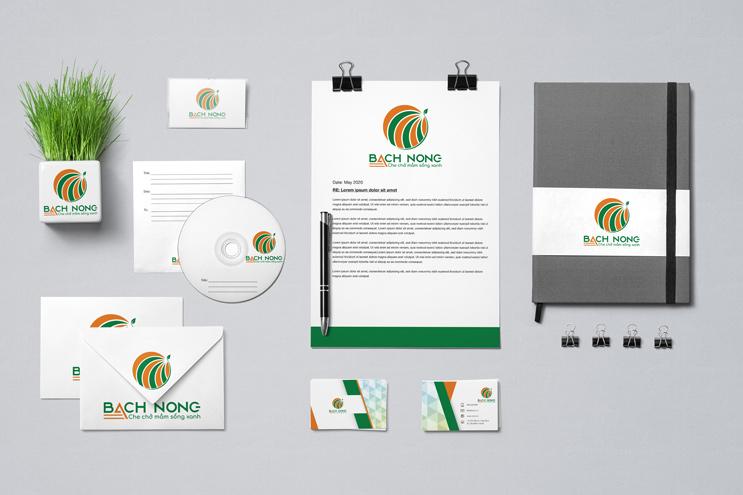 Thiết kế nhận diện thương hiệu BÁCH NÔNG   AZCO Branding
