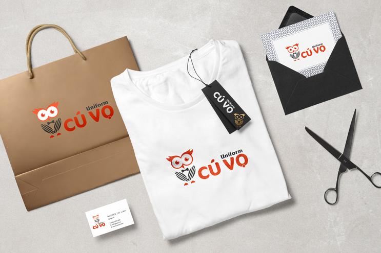Thiết kế nhận diện thương hiệu CÚ VỌ Uniform   AZCO Branding