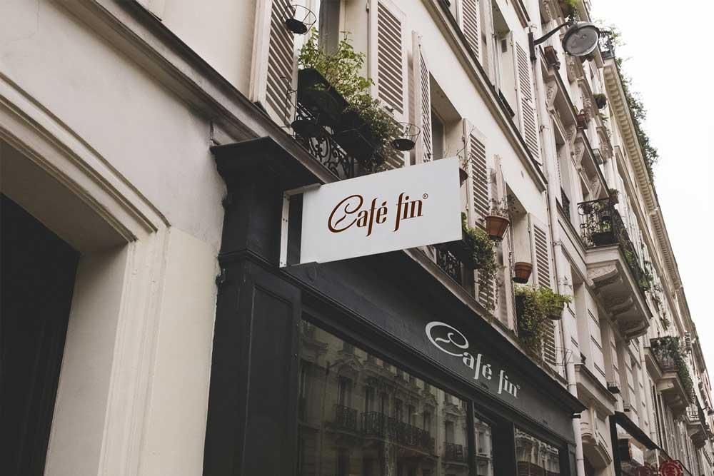 Thiết kế thương hiệu cafe fin